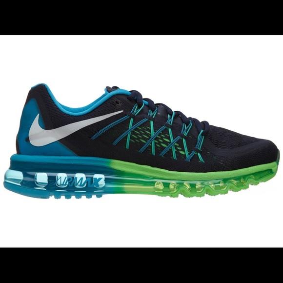 76c1ab4601a3a Nike Air Max 2014 Mens Obsidian Blue Green Mesh. M 5a53f8f0a6e3eae194024f6a
